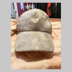 Free People Light Grey Baseball Cap